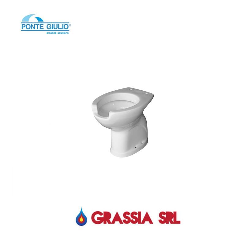 Vaso wc disabili con apertura frontale scarico a for Vaso per disabili