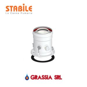 Partenza verticale coassiale MF 60/100 Stabile PAC PV 01 D60-100