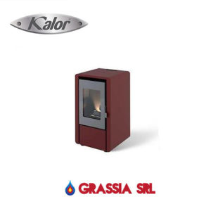 Stufa a pellet Petit6 Kalor bordeaux