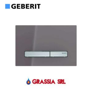 Placca di comando Sigma 50 Geberit vetro terra d'ombra