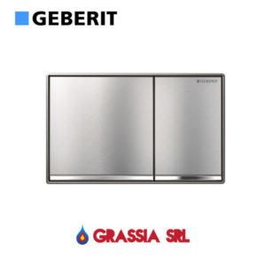 Placca Omega 60 Geberit filoparete cromo spazzolato