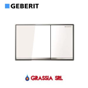 Placca Omega 60 Geberit vetro bianco
