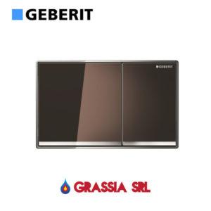 Placca Omega 60 Geberit filoparete vetro bruno