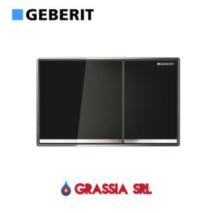 Placca Omega 60 Geberit vetro nero