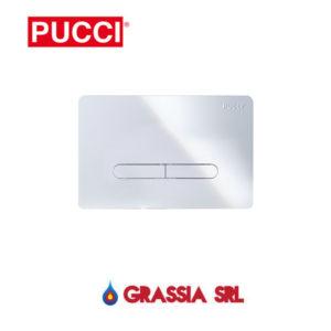 Placca Pucci ECO Tratto bianca - cromata