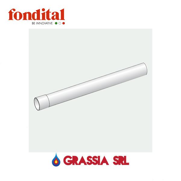 Tubo bicchierato d. 35 mm 1 MT M/F bianco