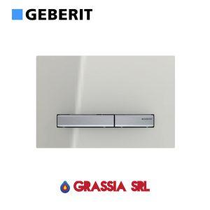 Placca di comando Sigma 50 vetro grigio sabbia / cromato Geberit 115.788.JL.2