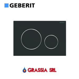 Placca di comando Sigma 20 Geberit 115.882.14.1 Nero opaco / cromo