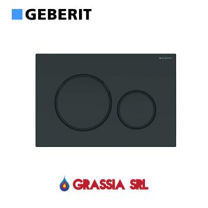 Placca di comando Sigma 20 Geberit 115.882.DW.1 Nero / nero opaco / nero